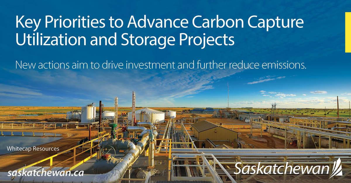 Saskatchewan Announces Carbon Capture Utilization and Storage Priorities