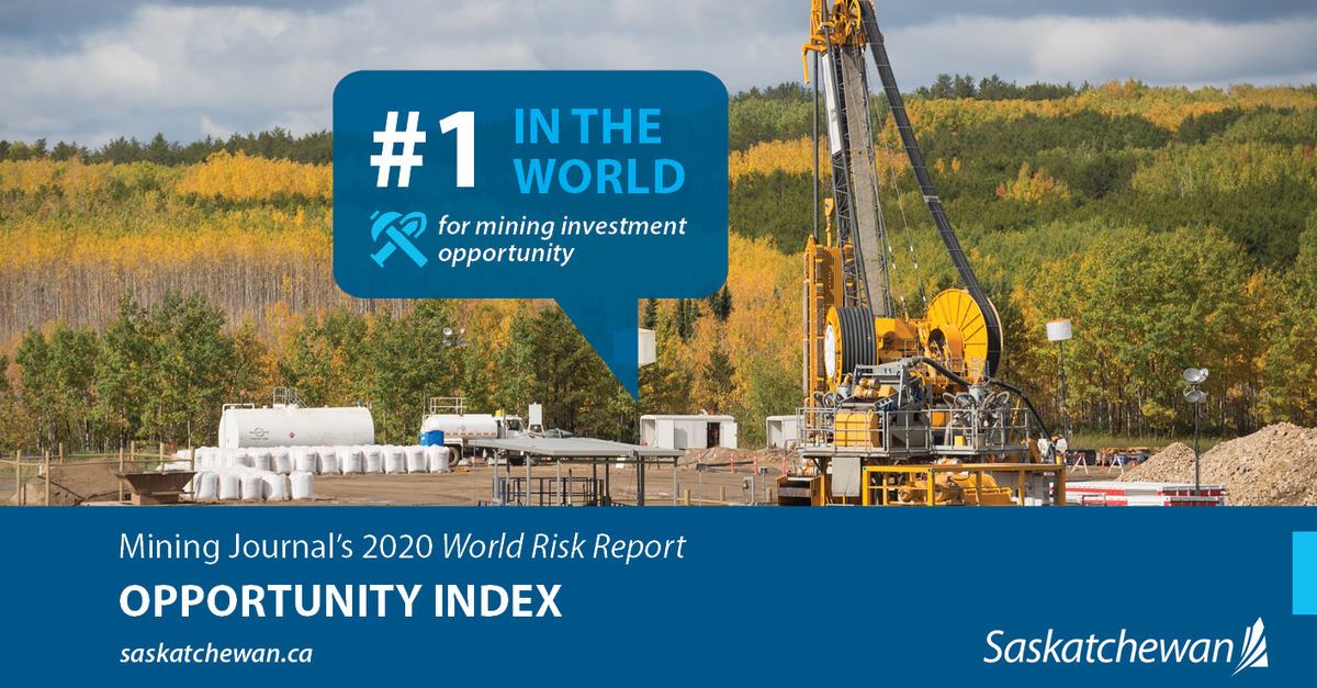 Saskatchewan Gets Top Global Ranking in International Mining Report