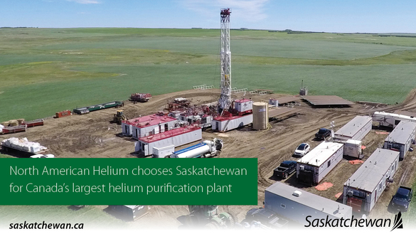 Canada's Largest Helium Purification Facility To Be Built In Saskatchewan