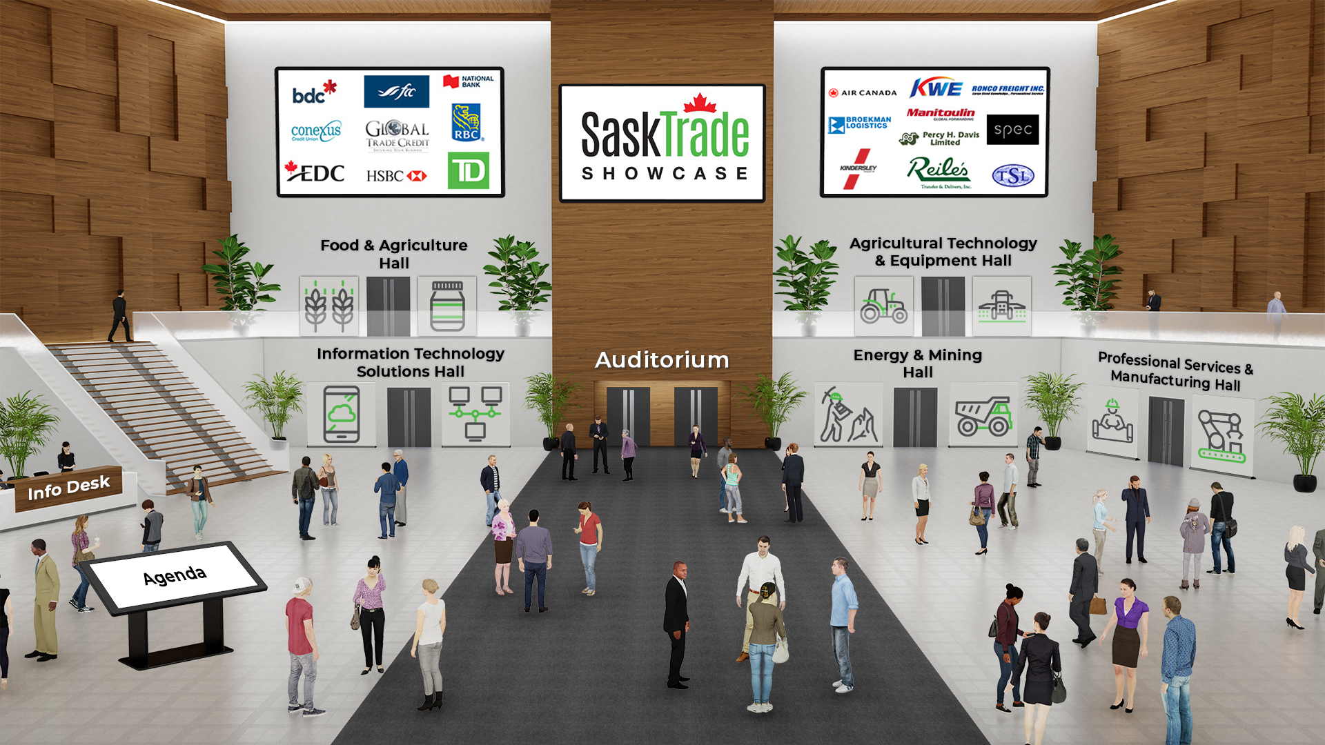 SaskTrade Showcase Virtual Lobby