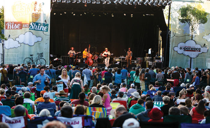 Large crowd at Rise and Shine Music Festival
