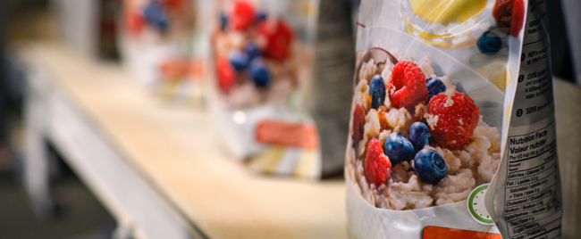 close up of Sask made oatmeal