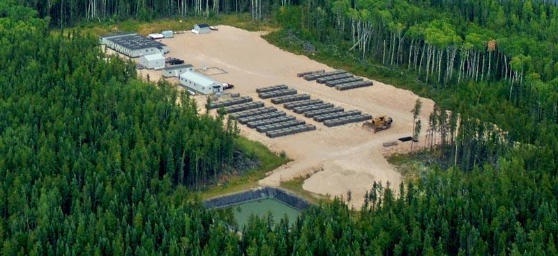 Bird's eye view of mining base