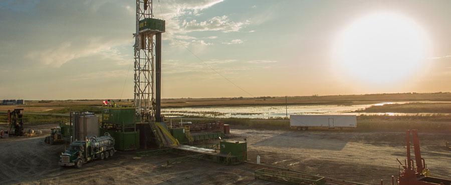 Saskatchewan oil well